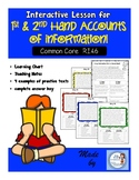 1st and 2nd Hand Account Interactive Lesson