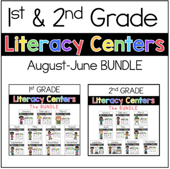 1st and 2nd Literacy Centers BUNDLE