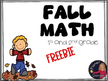1st and 2nd grade Fall freebie subtraction/addition activity