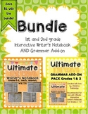 1st and 2nd grade Interactive Writer's Notebook and Grammar Add-on BUNDLE!