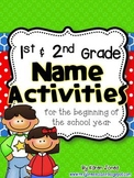 1st and 2nd grade Name Activities for the Beginning of the School Year