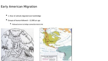 1st and 2nd wave of Us Immigraton - from the beginning of man to 1870