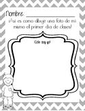 1st day activity- Picture of me/ Primer dia- Dibujo de mi mismo