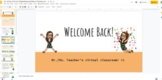 1st day of School Distance Learning Google Slide Template & Activities