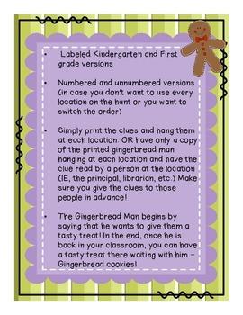 1st day of school Gingerbread Man Hunt & School Tour K&1