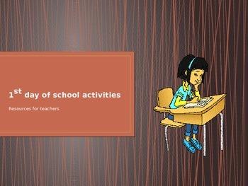 1st day of school activities (teacher resource)