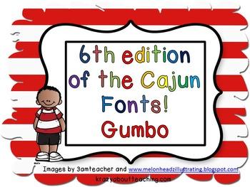 1st edition Cajun Font-Gumbo