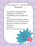 "1st gr. ELA- Marzano ""I can"" Statements and Essential Qu's"