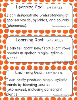 "1st gr. ELA- Marzano ""I can"" Statements and Essential Qu's.- Dots"