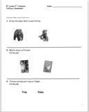 1st grade 2nd trimester Literacy Assessment