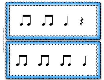 1st grade 4-beat rhythm cards