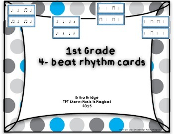 1st grade 4-beat rhythm cards