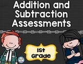 Addition and Subtraction Tests 1st Grade