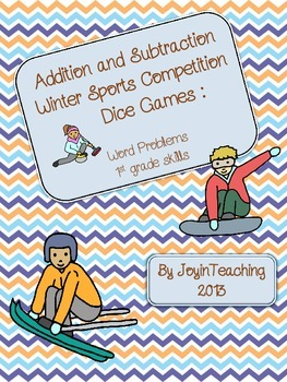 1st grade: Addition/Subtraction Word Problems: Winter Sports Competition: