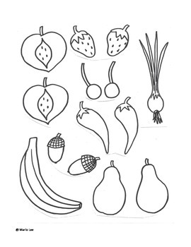 1st grade Art Sub Plan: Fruit and Veggie Faces