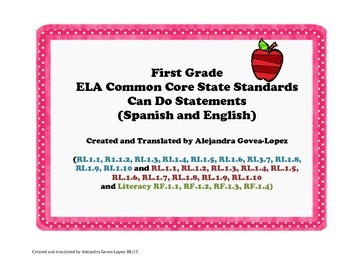 1st grade Bilingual Can Do Statements