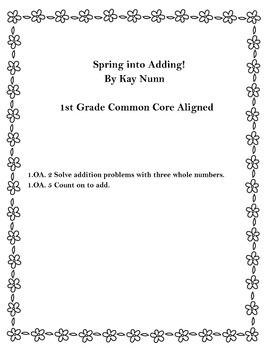 1st grade Bunny Adding Common Core Aligned  (1.OA.3/1.OA.5)