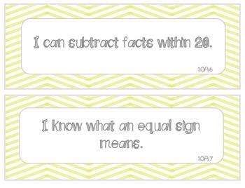 "1st grade CC Math ""I can"" statements"