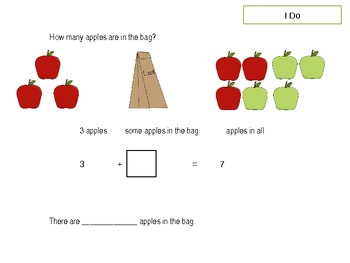 1st grade Common Core Lessons-Domain 1 (Operations and Algebraic Thinking)