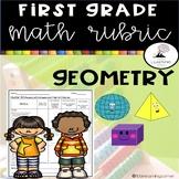 1st Grade Math Rubric - Geometry
