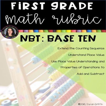 1st Grade Math Rubric - Number and Operations in Base Ten