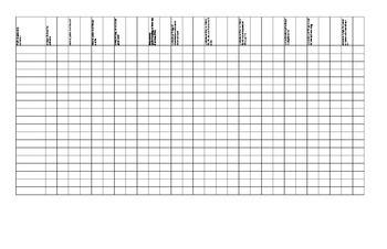 1st grade Common Core Math data Tracking Form