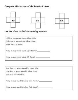 1st grade Comparing Numbers Review or Test