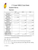 1st grade DIBELS data sheet
