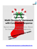 1st grade December Math class/homework with parent guides