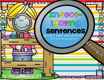 1st grade Dolch Sight Word & Sentence Practice - Insectigating
