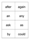 1st grade Dolch words flashcards