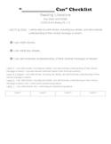 1st grade ELA common core rubrics