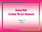 """1st grade Envision Math Chapter 14 ccss """"We Can"""" statement"""