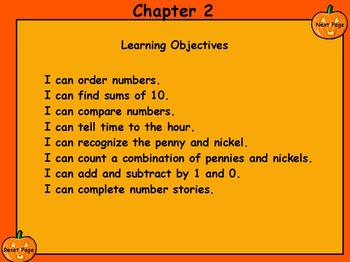 1st grade Everyday Math Chapter 2 Review