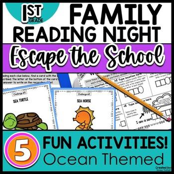 1st grade Family Literacy Night Escape the School