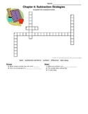 1st grade Go Math! Chapter 4 Vocabulary Crossword Puzzle