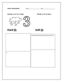 1st grade Hard th and Soft th 2 part worksheet