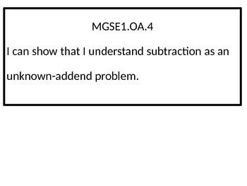 1st grade I Can statements for G.S.E. black-line border