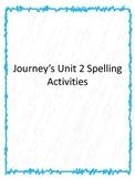 1st grade Journey's Unit 2 Word Work