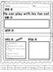 1st grade Journeys Read it Build it Write it Phonics Sentences Unit 1 Lesson 2