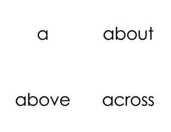1st grade Journeys Sight Word Cards
