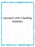1st grade Journey's Unit 1 word work