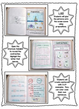 1st grade Language Interactive Notebook (Common Core Aligned)
