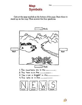 1st grade Map-Compass social studies lesson plan