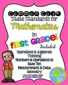 1st grade Math Common Core Standards Posters BUNDLE