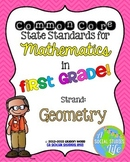 1st grade Math Common Core Standards Posters Geometry