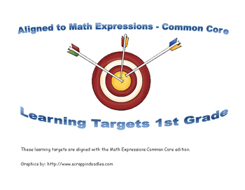 1st grade Math Expressions Learning Targets