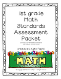 1st grade Math Standards Assessment Packet