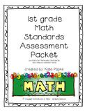 1st grade Math Standards Assessment Packet