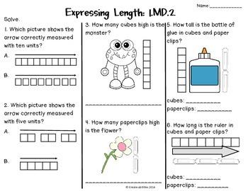Measurement Tests 1st Grade